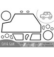 education paper game for children car vector image vector image