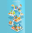 educational isometric concept vector image vector image