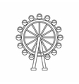Ferris wheel icon outline style vector image vector image