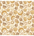 food bakery seamless pattern with baked vector image vector image