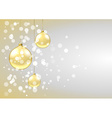 Golden baubles card vector image vector image