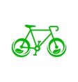 Green bicycle with leaves icon simple style vector image vector image