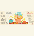 hand drawn tea time concept vector image vector image