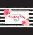 happy mother s day cute sale background with vector image