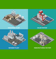 industrial buildings concept icons set vector image vector image