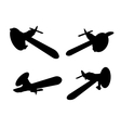 isolated propeller plane set vector image vector image