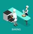 isometric baking concept vector image vector image