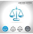 justice blue icon vector image