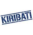 kiribati blue square stamp vector image vector image