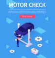media poster advertises motor check car service vector image vector image