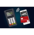 Mobile paying with NFC technology vector image vector image