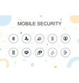 mobile security trendy infographic template thin vector image vector image