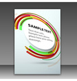 Modern folder template with bright round circle vector image vector image