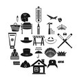 napper icons set simple style vector image vector image