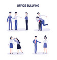 office harassment bully men mocking victim vector image
