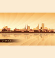 ottawa city skyline silhouette background vector image