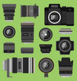 photo optic lenses vector image