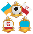 poland and ukraine emblems vector image vector image