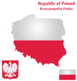 Republic of Poland Flag vector image