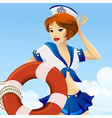 Sailor girl vector image