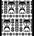 scandinavian seamless pattern in black vector image vector image