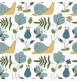 seamless forest pattern vector image