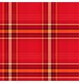 seamless red checked pattern vector image