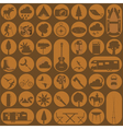Set camping icon hiking outdoors vector image vector image