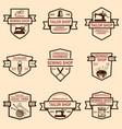 set of tailor shop emblems design elements for vector image