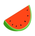 Slice of watermelon icon isometric 3d style vector image vector image