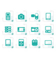stylized technical media and electronics icons vector image vector image