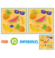 sumer pattern find 10 differences vector image vector image