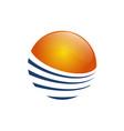 sun logo design creative sun symbol line sun logo vector image