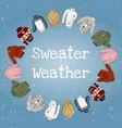 sweater weather - hand drawn cozy winter season vector image vector image