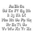 trees alphabet vector image