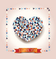 valentine background with stunning heart vector image