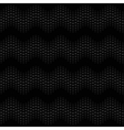 Wave seamless pattern black vector image vector image