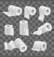 white toilet paper roll and kitchen towels vector image vector image