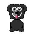 cute dog character vector image