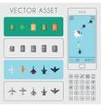 War Arcade Game Asset vector image