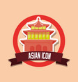 asian icon design vector image vector image