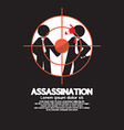 Assassination Looking Through A Sniper View vector image