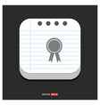 award icon gray icon on notepad style template vector image