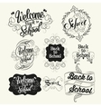 Back to school labels Lettering and calligraphic vector image