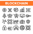 blockchain technology cryptocurrency vector image vector image