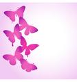border of butterflies flying vector image vector image