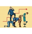 Boss business career on the backs of workers vector image vector image