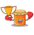 boxing winner jam mascot cartoon style vector image vector image