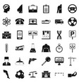 business day icons set simple style vector image vector image