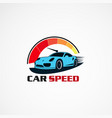car speed performance logo icon element and vector image